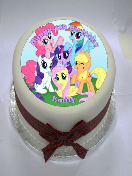 My Little Pony (Blue) Edible Cake Topper